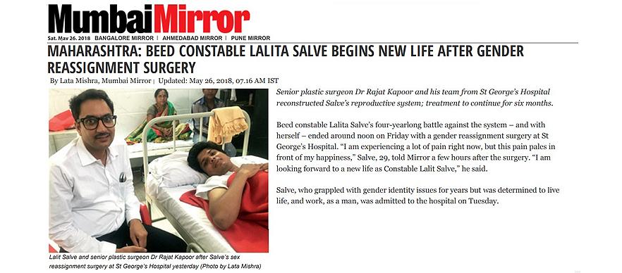 Dr Rajat Kapoor Done Lalita Salve Surgery